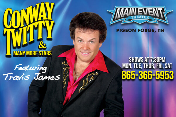 Travis James as Conway Twitty in Pigeon Forge